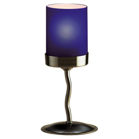 Metal Twist Lamp Base - Blue