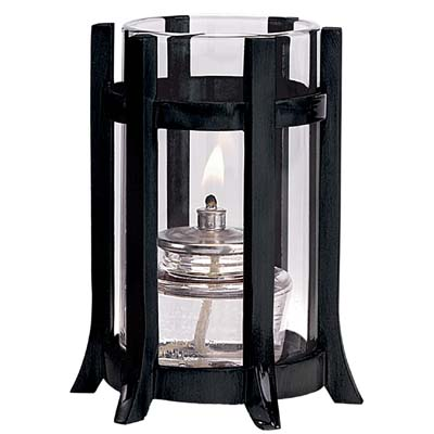 Castle Lamp w/ Clear Cylinder