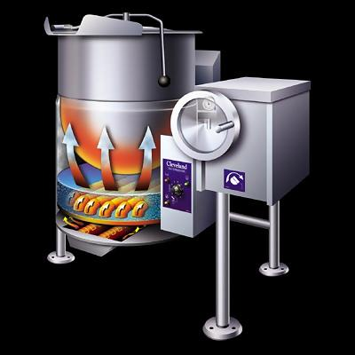 Cleveland Kgl 60 T Ngas Gas Steam Jacketed Tilt Kettle