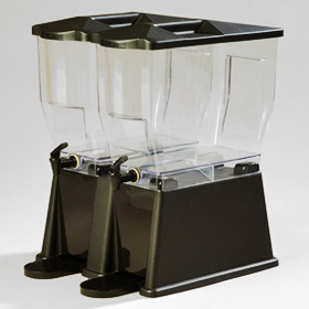 3 Gallon Economy Double Drink Dispenser, Black