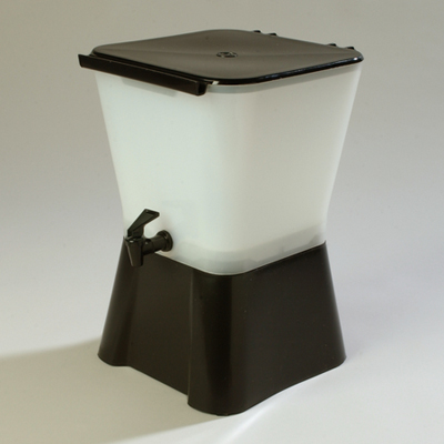 Carlisle 3 Gallon Square Drink Dispenser, Black