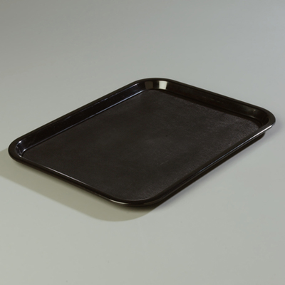 "18"" x 14"" Carlisle Cafe Tray, Black"