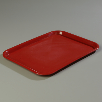 "18"" x 14"" Carlisle Cafe Tray, Burgundy"