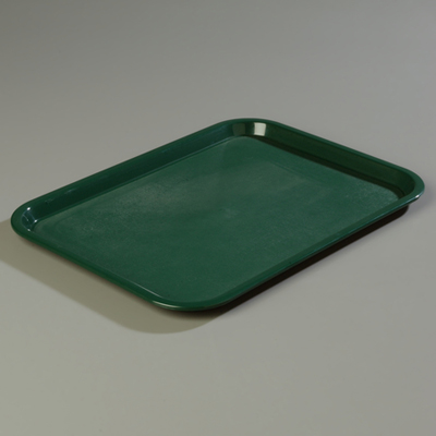 "18"" x 14"" Carlisle Cafe Tray, Forest Green"