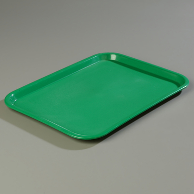 "18"" x 14"" Carlisle Cafe Tray, Green"