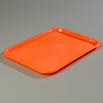 "18"" x 14"" Carlisle Cafe Tray, Orange"