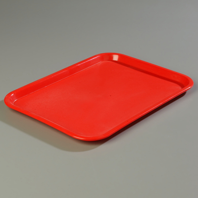 "18"" x 14"" Carlisle Cafe Tray, Red"