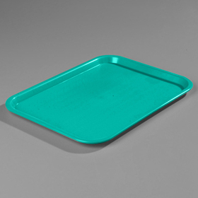 "18"" x 14"" Carlisle Cafe Tray, Teal"