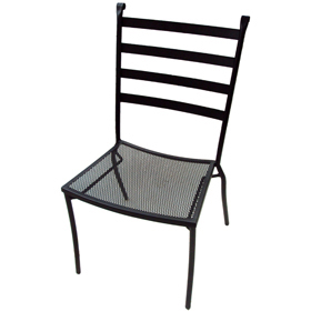 Charcoal Terrace Side Chair