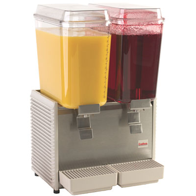 Double 5-Gallon Bowl Juice Dispensers