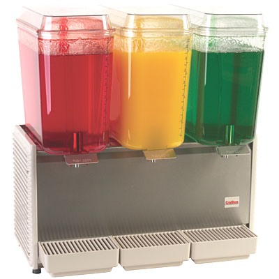 Triple 5-Gallon Bowl Juice Dispensers