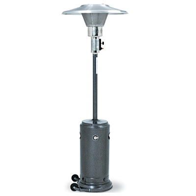 Outdoor Propane Patio Heater, Silver Veined
