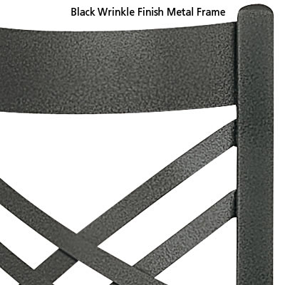 Black Wrinkle Finish Metal Frame