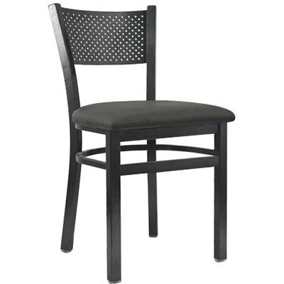 Square Back Metal Frame Chair