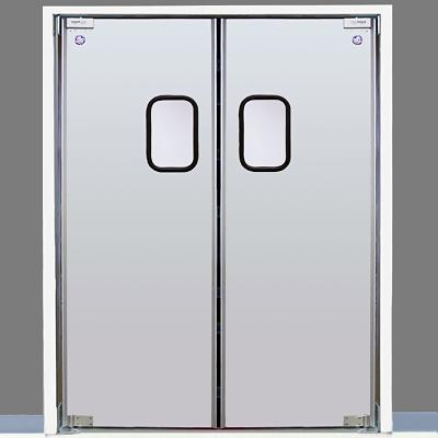 Eliason lwp 3 48dbl dr 48 double door opening easy swing kitchen door tempered aluminum - Commercial double swing doors ...