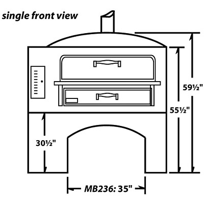 Single Deck - Front View Dimensions