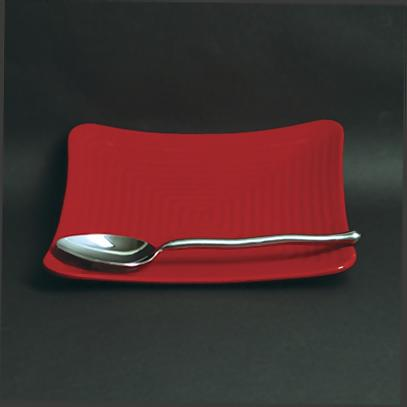 277-D-249 : red square plate - Pezcame.Com