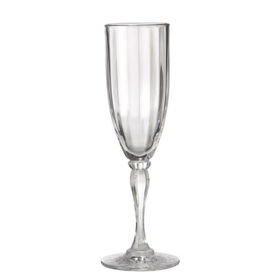 463d44f0317 GET SW-1420-1-SAN-CL - 6 Oz. Fluted Champagne Glass - Clear SAN Plastic  $91.90