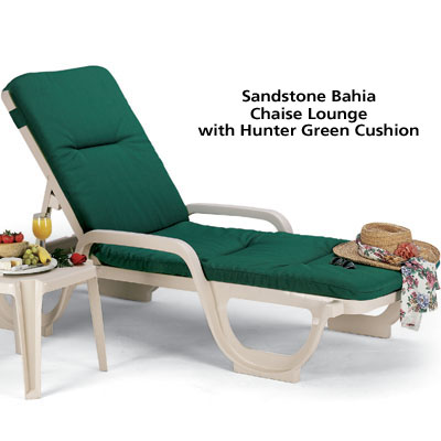 Sandstone Bahia Chaise Lounge with Cushion