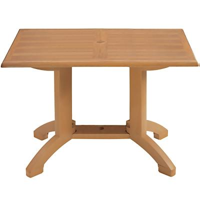 Grosfillex US240808 - Winston 48 x 32 Rectangular Table - Teakwood