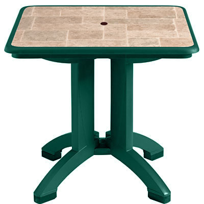 "32"" Siena Table with Amazon Green Base"