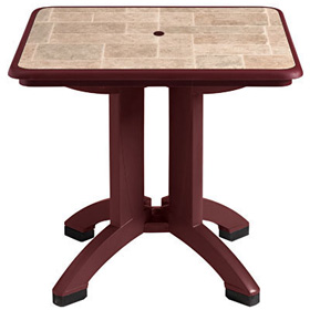 "32"" Siena Table with Bordeaux Base"