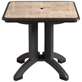 "32"" Siena Table with Charcoal Base"