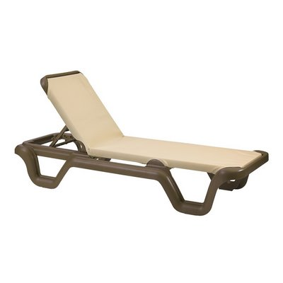 Marina Adjustable Sling Chaise Lounge Chair