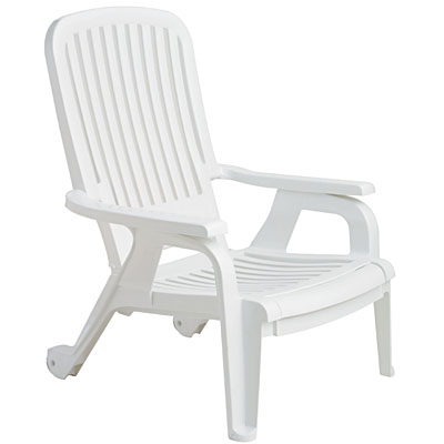 Grosfillex 47658004 bahia stackable deck armchair white resin chairs - White resin stacking chairs ...