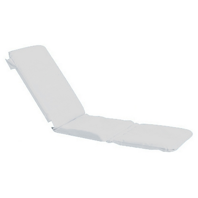 Grosfillex 98230431 - Replacement Chaise Cushion With Hood - White
