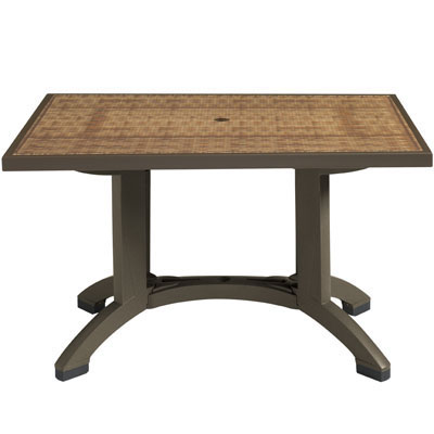 Havana Table with Espresso Trim