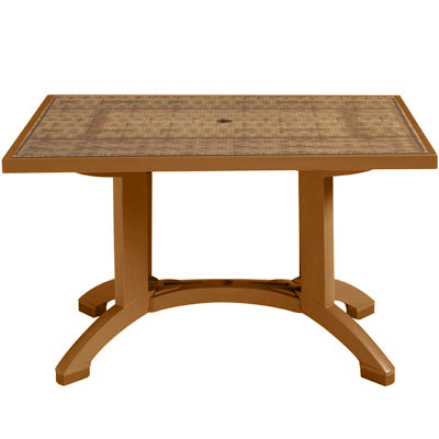 Havana Table with Tobacco Trim