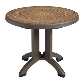 "38"" Round Havana Table, Espresso"