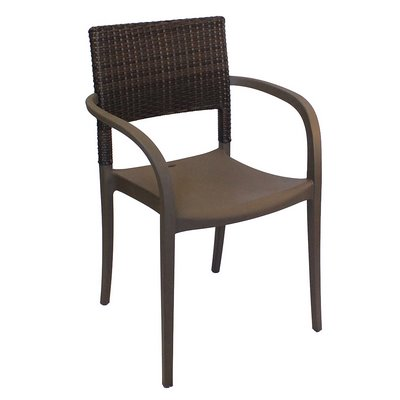 Grosfillex US926002   Java Stackable Armchair   Faux Wicker Back   Choose  Color