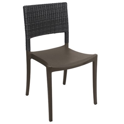 Grosfillex US925002   Java Stackable Side Chair   Faux Wicker Back   Choose  Color (Must Buy In Multiples Of 16   Polypropylene Resin With Synthetic  Wicker ...