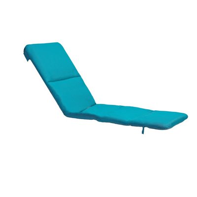 Grosfillex 98235431 - Replacement Chaise Cushion With Hood - Aqua Marine