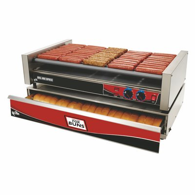 50 Hot Dog Roller Grill Max Express
