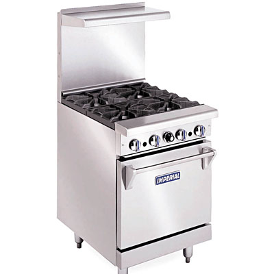 """imperial ir-4 - 24"""" gas range - 4 burners - 1 space saver oven - gas"""