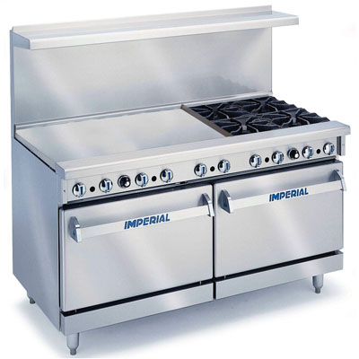 "60"" Gas Range with Griddle"