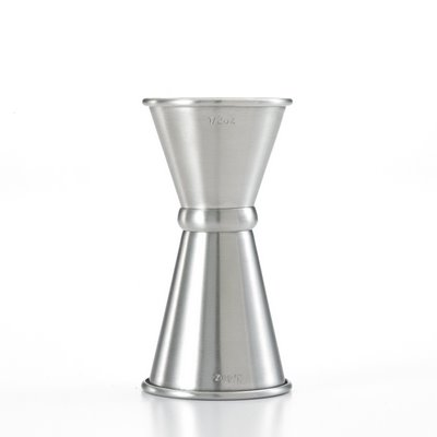 Mercer M37000 - Japanese Style Jigger - Stainless Steel - 1/2 x 3/4 oz.