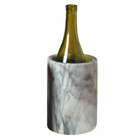 Marble Wine Cooler, White