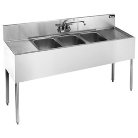 krowne kr21 63c royal three 3 compartment bar sink 72w 125245 - Three Compartment Kitchen Sink