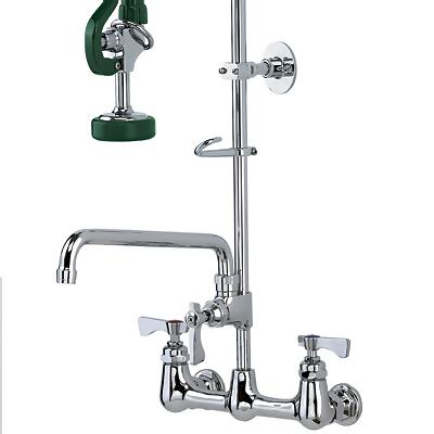 Commercial Sink Faucet : ... Commercial Faucet with Add-On-Faucet - Commercial Kitchen Faucets