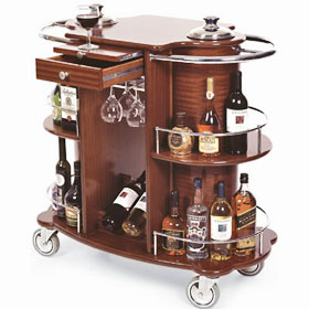 Lakeside geneva wine and cocktail service cart 70260 for Mobili bar cart