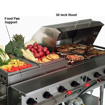 "60"" Unit With 30"" Hood & Pan Support"