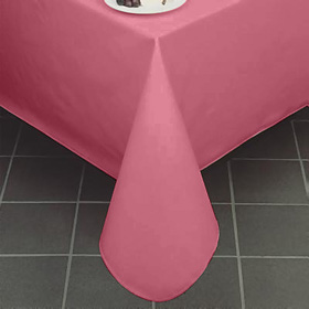Gentil ... Pearlized Linen Vinyl Tablecloth, Burgundy ...