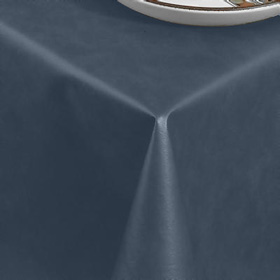 ... Ultra Solid Vinyl Tablecloth, Navy ...