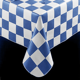 ... Checkered Flag Pattern Tablecloth, Navy ...