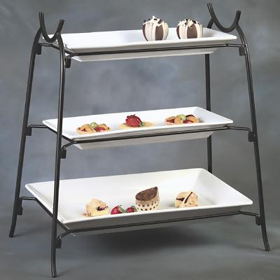 Rectangular 3-Tier Stand & American Metalcraft IS14 - 3-Tier Wrought Iron Stand - Tiered ...