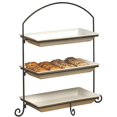 Three (3)Tier Display Stand  sc 1 st  ZESCO.com & American Metalcraft IS13 - 3-Tier Platter Stand - Black Wrought Iron ...